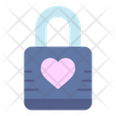 Padlock Love Heart Icon