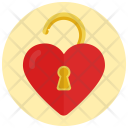 Heart Unlock Love Icon