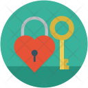 Love lock and key Icon