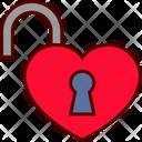 Love Lock Open Icon