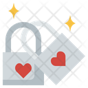 Love Locks Padlock Key Icon