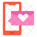 Smartphone Chat Love Icon