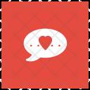 Love Message Love Bubble Icon