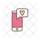 Chat Message Love Icon