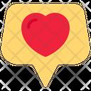 Love Message Conversation Heart Icon