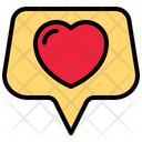 Love Message Conversation Heart Icon
