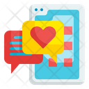 Love Message Chat Smartphone Icon