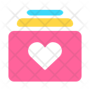 Icon Love Message Abstract Primitive Icon