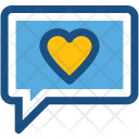 Chat Message Romantic Icon