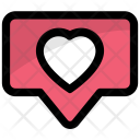 Chat Heart Speech Icon