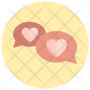 Heart Messages Chatting Icon