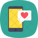 Mobile Heart Love Icon