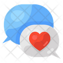 Romantic Chat Love Chat Love Bubble Icon