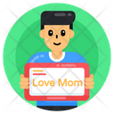 Love Mom Love Mom Banner Love Mom Card Icon