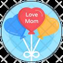 Heart Balloons Love Mom Balloons Love Balloons Icon