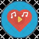 Love Music Valentine Icon