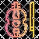 Violin Love Romance Icon
