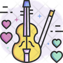 Love Music Romantic Music Violin Icon