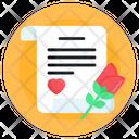 Love Letter Love Note Love Content Icon