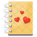 Love Diary Love Notebook Romantic Novel Icon