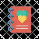 Notepad Notebook Romance Icon