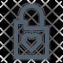 Love Padlock Padlock Love Icon