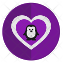 Love Penguin Icon