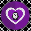 Penguin Romantic Animal Icon