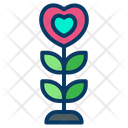 Plant Love Heart Shape Plant Icon