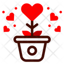 Plant Growth Heart Icon