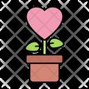 Love Plant Love Heart Icon