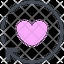 Rrow Heart Like Icon
