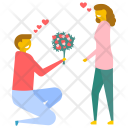 Lovers Bouquet Love Icon