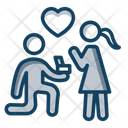 Love Couple Love Proposing Love Spouse Icon