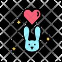 Love Rabbit Love Animal Animal Care Icon
