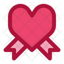 Love Heart Ribbon Icon