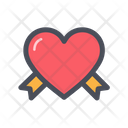 Love Ribbon Heart Ribbon Ribbon Icon
