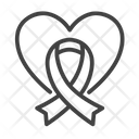 Love Ribbon Heart Ribbon Heart Icon
