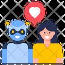 Bot Love Love Robot Romantic Robot Icon