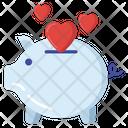 Love Saving Love Bank Piggy Bank Icon