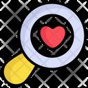 Love Search Heart Love Icon