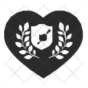Love Shield Heart Icon
