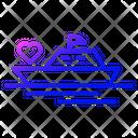 Love Ship Transport Boat Icon