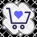 Cart Heart Like Icon