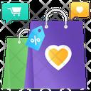Shopping Bag Love Handbag Valentine Tote Icon