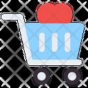 Love Shopping Love Cart Romantic Shopping Icon