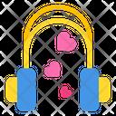 Love Song Love Music Headphones Icon