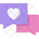 Love Talk Love Chat Love Icon