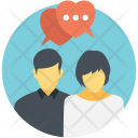 Talking Messaging Couple Icon