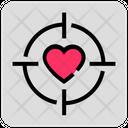 Valentine Day Heart Target Icon